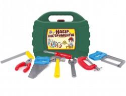 Инструменты для мальчиков в зеленом чемодане 4371 Технок