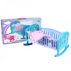 Кроватка для куклы + постельное белье Колыбель 4524 Технок в коробке