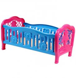 Кроватка для куклы пластмассовая 4517 ТехноК