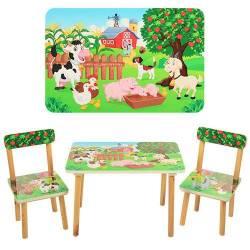 Детский стол и 2 стула зеленые 501-10-11