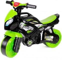 Байк мотоцикл с музыкальными и световыми эффектами зеленый 5774 ТехноК