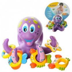 Игра для купания Осьминог с морскими животными HS6301