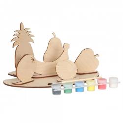 Набор для творчества сборная деревянная модель с красками Овощи или Фрукты 70964 Вудмастер
