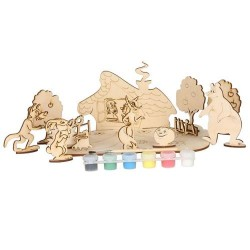 Набор для творчества сборная деревянная модель Любимые сказки 71101 Вудмастер