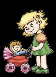 Коляски и кроватки для кукол