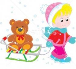 Санки, лыжи и детские ледянки
