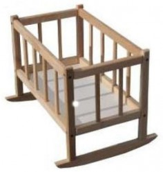 Кроватка деревянная для кукол  Бук 171016 ТМ Дерево