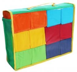 Кубики мягкие тканевые разноцветные 12 штук Розумна іграшка