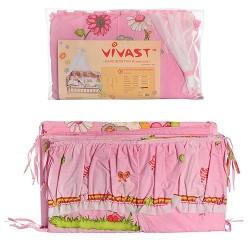 Защита для детской кроватки Эконом М V-612 для девочки