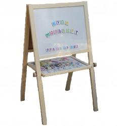 Мольберт   для детей деревянный двухсторонний с аксессуарами 2016