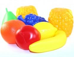 Набор пластиковых  фруктов в сетке ИП.18.000 ToysPlast