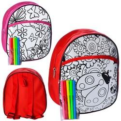 Раскраска-рюкзак набор для творчества MK 0641-1